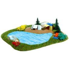Λίμνη με εικόνα κατασκήνωσης (Διακόσμηση) Busch 8052