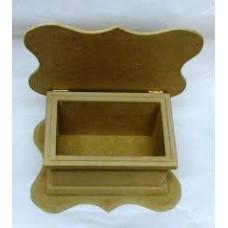 Κουτί 20x15x10 εκ. ξύλινο κυματιστό καπάκι