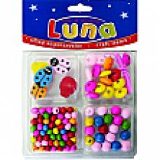 Χάντρες ξύλινες πασχαλίτσες Luna 620211