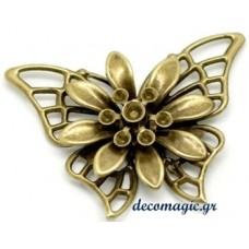 Διακοσμητική μεταλλική πεταλούδα