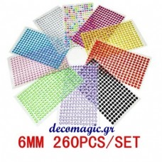 Pearl stickers 6 mm