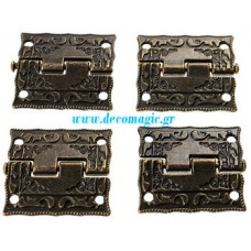 Decoration hinge 26 mm vintage bronze