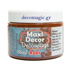 Ακρυλικό χρώμα σκουριάς 100 ml Maxi Decor