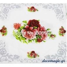 Χαρτοπετσέτα λουλούδι τριαντάφυλλο