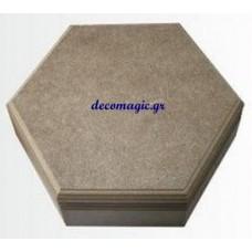 Κουτί ξύλινο MDF εξάγωνο