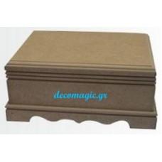 Μπιζουτιέρα ξύλινη MDF 15 Χ 11 Χ 8 εκ.