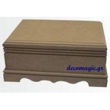 Μπιζουτιέρα ξύλινη MDF 21 Χ 15 Χ 9 εκ.