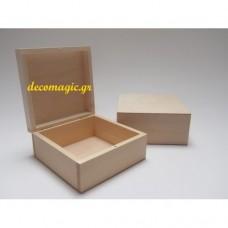 Κουτί ξύλινο 16 Χ 16 Χ 7 εκ.
