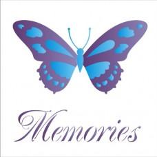 Στένσιλ εύκαμπτο 14 X 14 εκατοστά πεταλούδαc- Memories ΟΡΑ