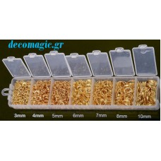 Κρικάκια συνδετικα μεταλλικό σε σετ διαφόρων μεγεθών
