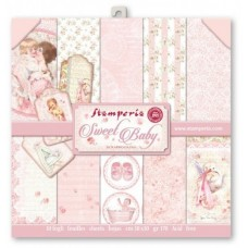 Scrapbooking block paper double sided Baby Pink