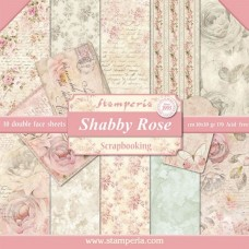 Scrapbooking block paper double sided Shabby Rose