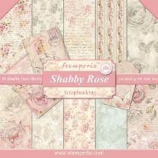 Χαρτί μπλοκ scrapbooking  διπλής όψης Stamperia Shabby Rose