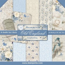 Χαρτί μπλοκ scrapbooking  διπλής όψης Stamperia Old England
