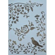 Stencil flexible 21 X 31 cm - Bird & Branches