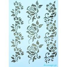 Stencil flexible 21 X 31 cm - Blossoms