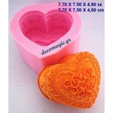 Καλούπι σιλικόνης 3D καρδιά αγάπης Νο 2