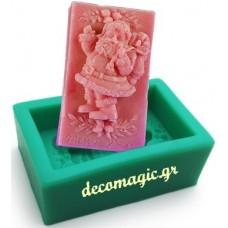 Καλούπι σιλικόνης 3D Άγιος Βασίλης Νο 3 σαπούνι