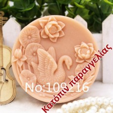 Mold 3d  silicone handmade child goose with lotus