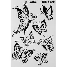 Stencil flexible 21 X 31 cm - butterflies