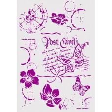 Στένσιλ εύκαμπτο 21 Χ 31 εκ. ( Α4) -καρτ ποστάλ