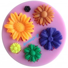 Mold 3d  blossoms soft silicone