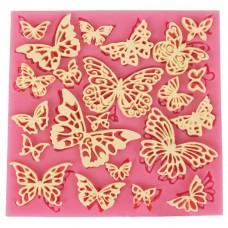 Καλούπι σιλικόνης 3D πεταλούδες