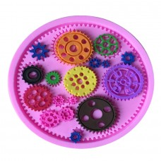 Mold 3d  gears soft silicone