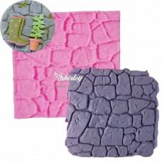 Mold 3d  wall stones soft silicone