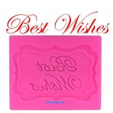 """Καλούπι σιλικόνης 3D """"Best wishes"""""""
