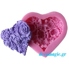 Mold 3d  soft silicone love roses