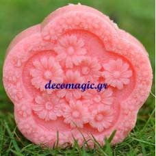 Καλούπι σιλικόνης 3D στεφάνι μαργαρίτες