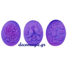 Mold 3d  soft silicone angel - bird - rose