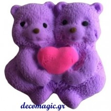 Mold 3d  soft silicone care bears