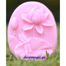 Mold 3d  soft silicone oval flower