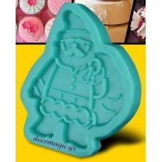 Καλούπι σιλικόνης 3D Άγιος Βασίλης No 1