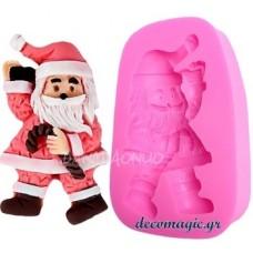 Καλούπι σιλικόνης 3D Άγιος Βασίλης No 2