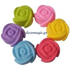 Καλούπι σιλικόνης 3D τριαντάφυλλο