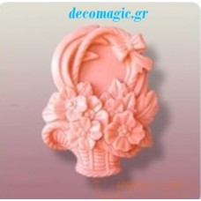 Mold 3d  silicone flower basket