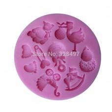 Καλούπι σιλικόνης 3D μωρό  Νο 2