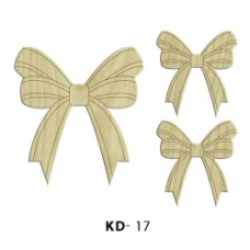 Wooden bows for decoration
